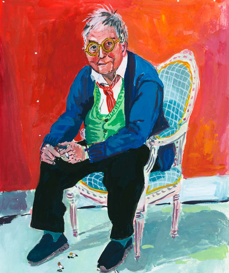 David Hockney. After a picture of him in the Van Gogh Museum, June 2019.