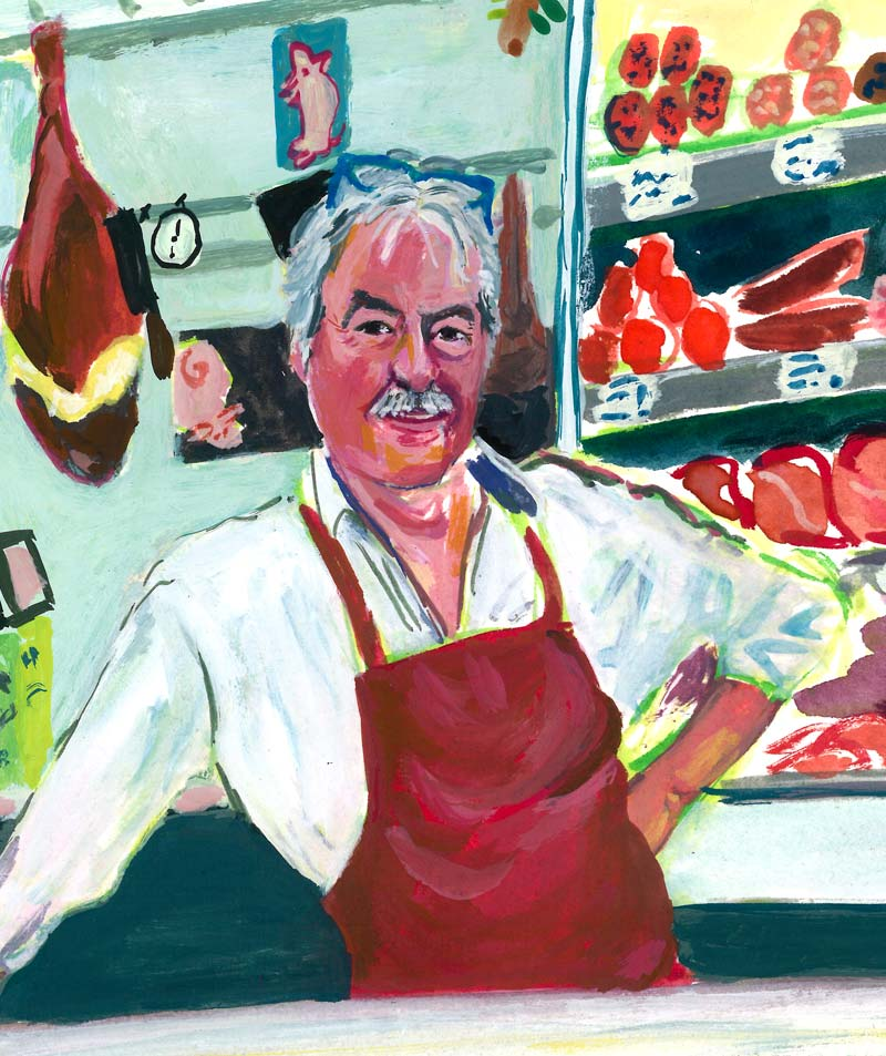 Ron Agterberg, biological butcher, famous for his homemade sausages!